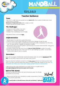 Handball Teacher Guidance