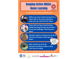 Keeping Active Whilst Home Learning
