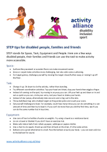 STEP tips for disabled people families and friends