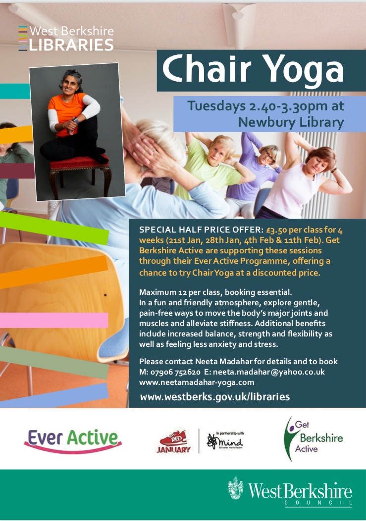 Image: Chair Yoga Sessions in West Berkshire in January