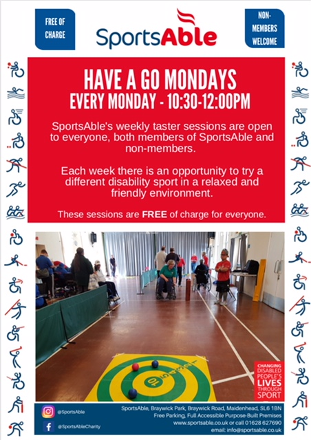 Image: 'Have a Go' Monday sessions in Maidenhead