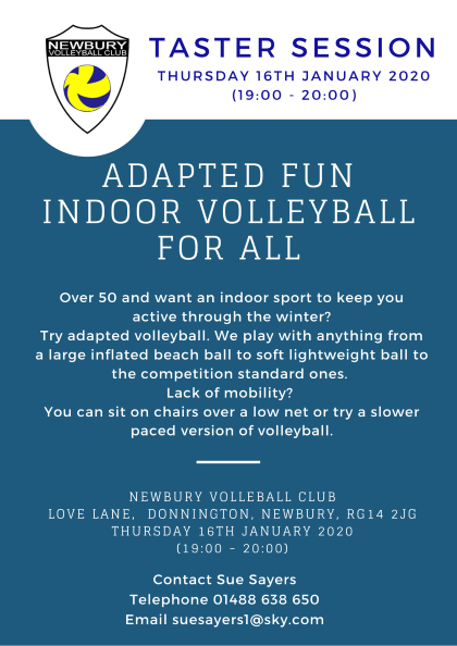 Image: Over 50 Adapted Volleyball, Taster Session, Newbury